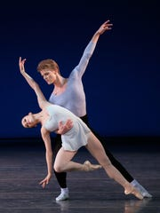 "Megan Fairchild and Chase Finlay perform in ""Duo Concertant"""