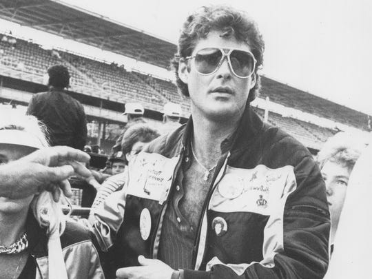 "David Hasselhoff sang ""The Star-Spangled Banner"" before the Indianapolis 500 in 1986."