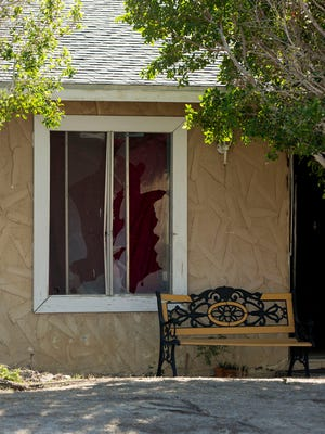 A home on N. Cypress Road in Palm Springs, the scene of a shooting that killed two police officers.