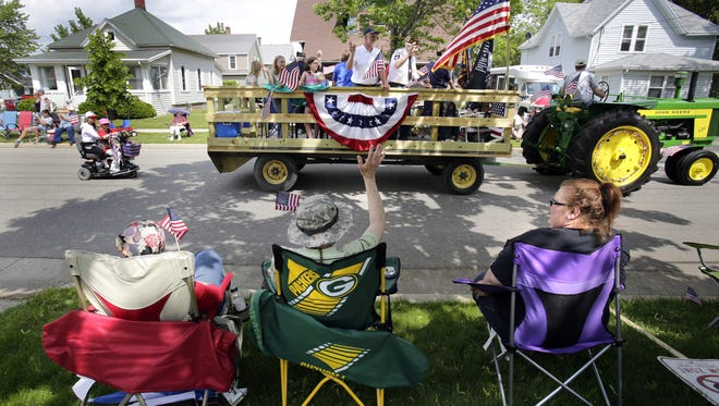 Yes, you can put your chair along the parade route in advance.