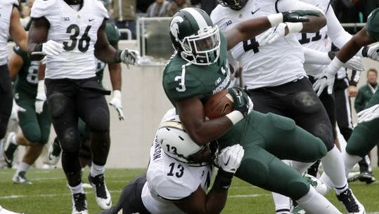 Purdue nearly defeated No. 2 Michigan State on Saturday, October 3, 2015 in East Lansing, Michigan.