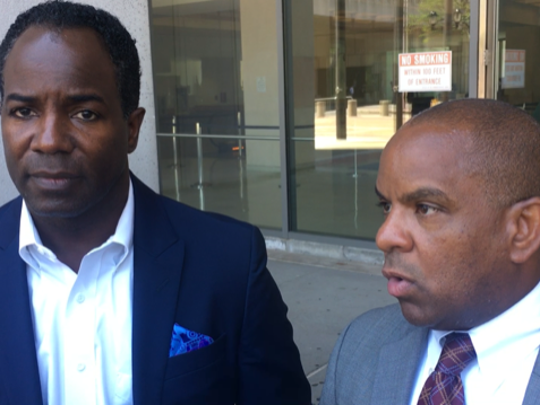 Mount Vernon City Councilmen Andre Wallace, left, and Marcus Griffith