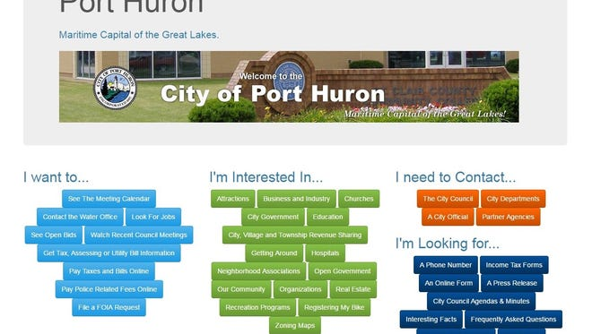 Port Huron has nearly all relevant information right on their home page in addition to having drop-down menus too