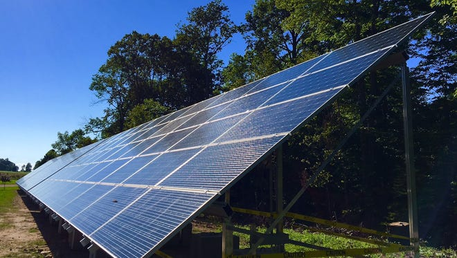 This summer, Waseda Farms in Baileys Harbor, Wisconsin, added a solar-power system. The cows, pigs and chickens share the pastures at the progressive Door County farm with over 140 solar panels. The new solar array is expected to generate considerable savings in use of and cost for electricity at Waseda Farms while augmenting its signature production of certified organic food through environmentally centered practices.