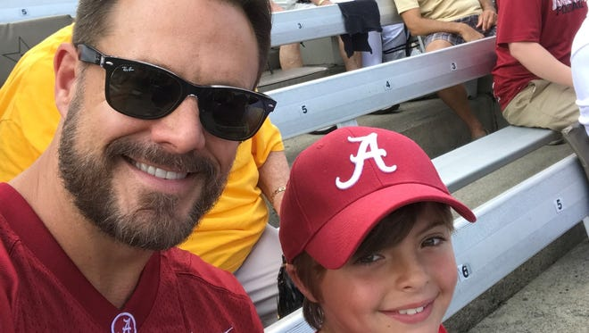 L, Jim Westbrook and his son, Elijah, in Nashville at Alabama-Vanderbilt game earlier this season.