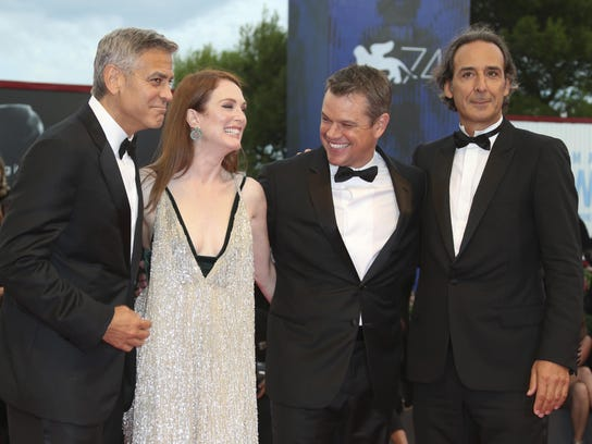 From left actors, George Clooney, Julianne Moore and