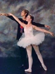 """Marlene Turbin-Weldon and Jeana Klevene in an Academie de la Danse """"Nutcracker"""" performance."""