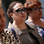 Tanya Bowman, principal at Osborn Collegiate Academy of Mathematics, Science and Technology, outside the Federal Courthouse in Detroit on Tuesday, May 3, 2016, after pleading guilty to accepting kickbacks from a vendor.