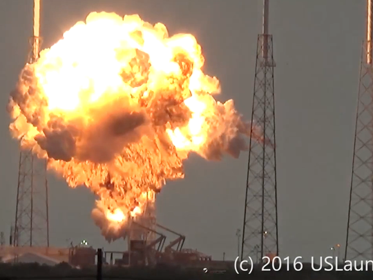 The SpaceX rocket is seen in this still image courtesy