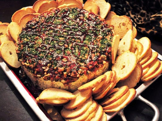 One of the crowd's favorite appetizers at Jay Gastineau's birthday party proved to be the Cheesecake Cheese Ball.