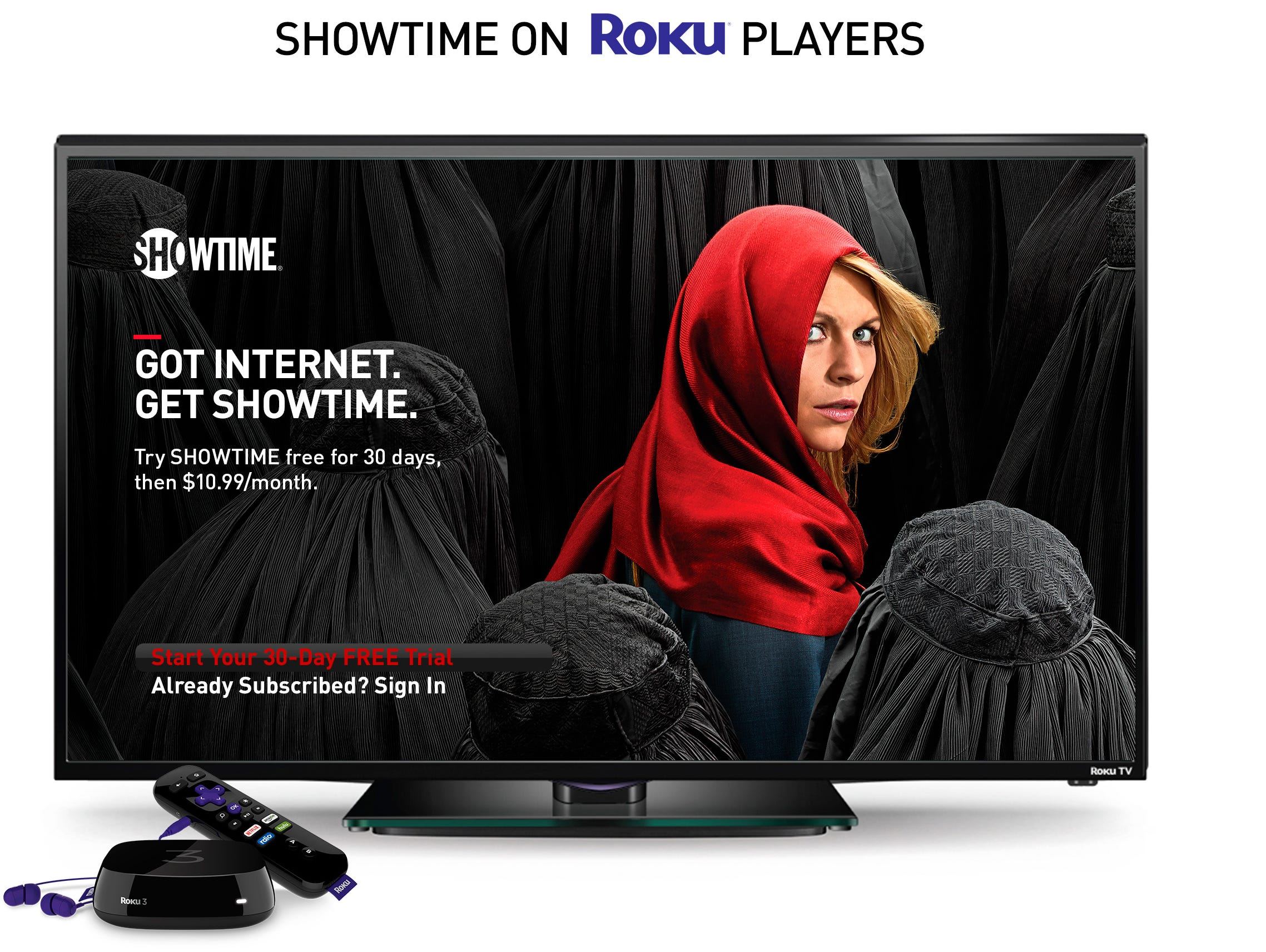 Showtime's standalone video service is coming to Roku set-top boxes.