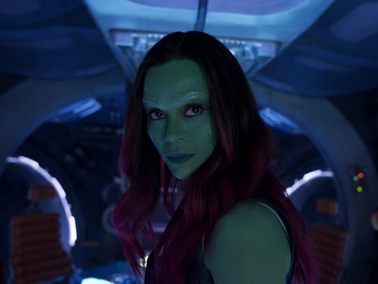 Gamora (Zoe Saldana) returns as part of the misfit