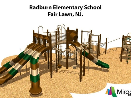 A rendering of the new Radburn playground.