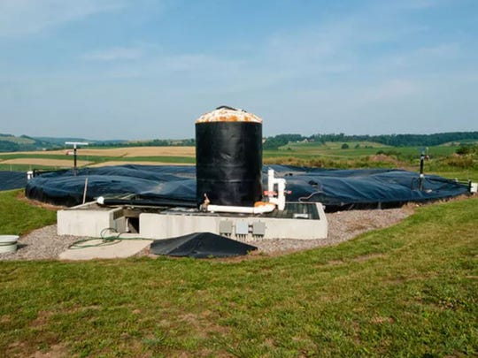 Anaerobic digester systems like this one at Pennwood Dairy Farms in Berlin, Pennsylvania, capture biogas for energy production from the breakdown of manure while reducing pathogens and controlling odors.