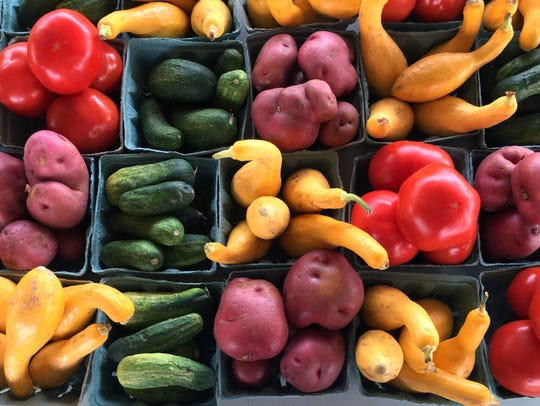 Fresh produce is plentiful at roadside stands and flea