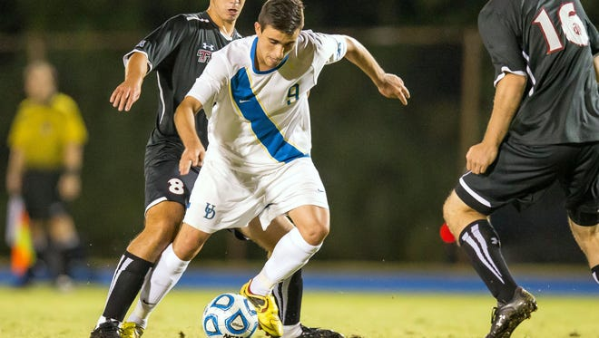 Guillermo Delgado is Delaware's first three-time soccer All-American.