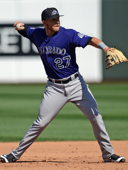 USP MLB: SPRING TRAINING-COLORADO ROCKIES AT KANSA S BBA USA AZ