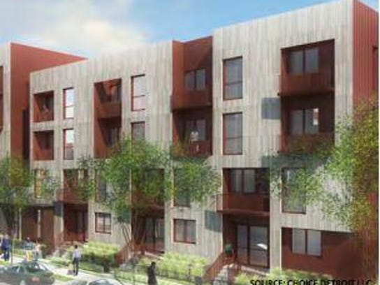 Conceptual Site Rendering of Apartment Building on
