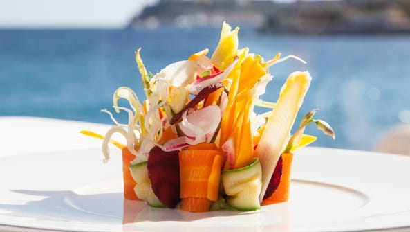 This plate of assorted vegetables is an Elsa signature.