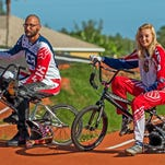 Ryan Zielinski and Michelle Huey are heading to the BMX World Championships in Belgium.