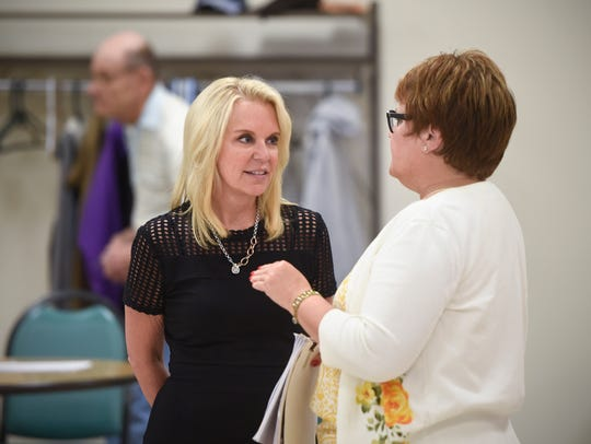 State Sen. Karin Housley is given a tour Thursday,