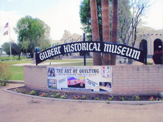 The quilt show is an annual event each spring at the Gilbert Historical Museum.
