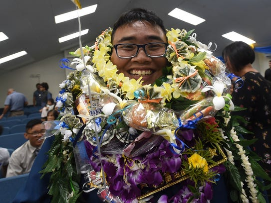 Family Baptist Church School graduate, Noah Cruz, covered