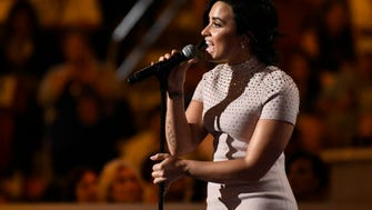 Demi Lovato brought the house down with an emotional speech and performance.