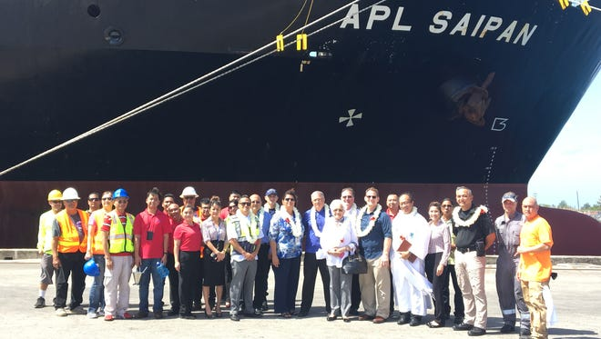 On Jan. 1, 2016, APL celebrated its return to Guam and Saipan with its first voyage and, one year later, APL added a second ship for a weekly service. On May 17, APL will mark its 100th voyage of its service with its heaviest load to date with over 400 containers.