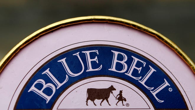 A container of Blue Bell ice cream March 13, 2015, before the company recalled all of its products.