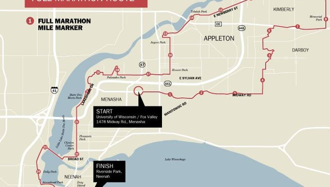 Fox Cities Marathon map