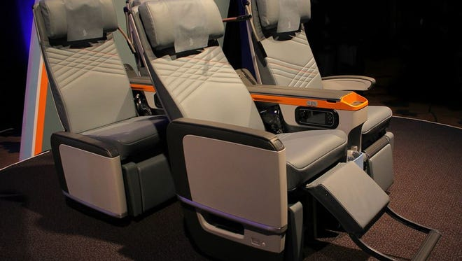 Singapore Airlines officially unveiled its new Premium Economy seats on May 21, 2015. The seats will are to be fitted 'progressively' on the carrier's 777-300ERs, A380s, and future fleet of A350s.
