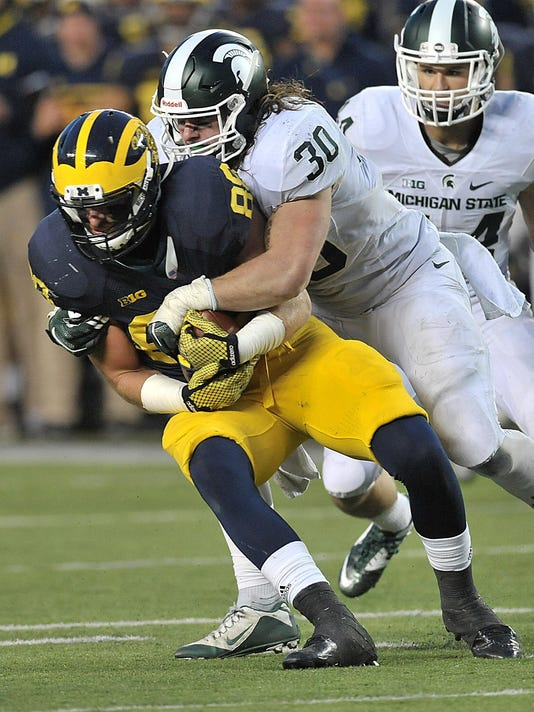 LB Riley Bullough puts jolt into family's MSU legacy