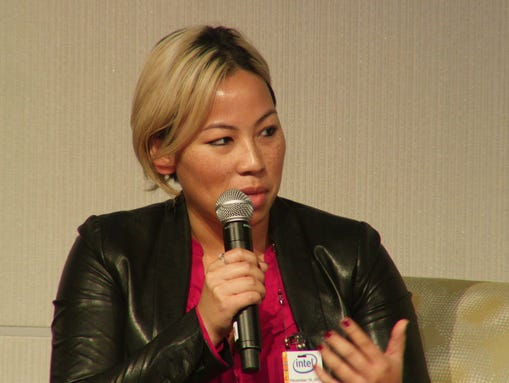 Lisa Lee, diversity program manager at Pandora, speaks
