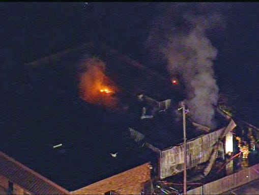 The fire was reported at 5:39 a.m. Friday not far from