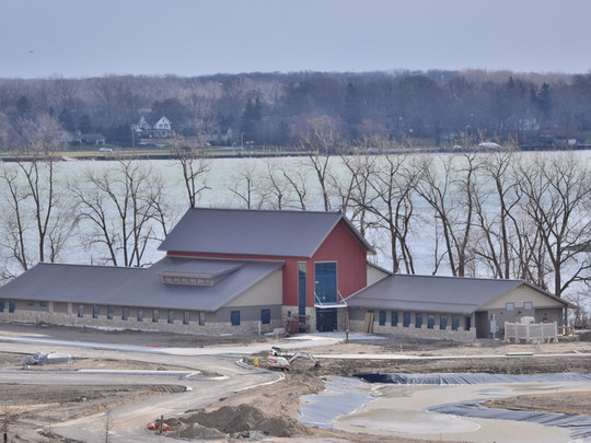 The John D. Dingell Jr. Visitor Center will be the center of activity at the Detroit River International Wildlife Refuge Gateway when it opens this fall.