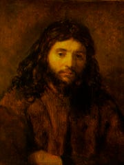 Jesus Christ portrait by Rembrandt.