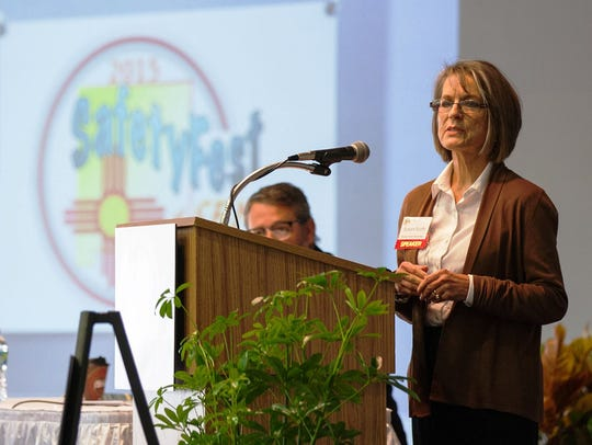 Susan Scott speaks at the annual SafetyFest of Southeast
