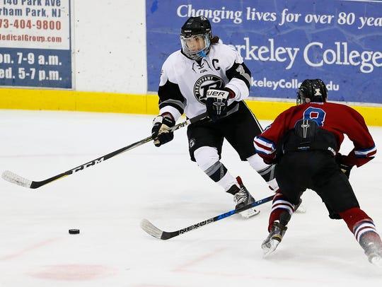 Parsippany Regional senior Alex Cavaluzzo chases the