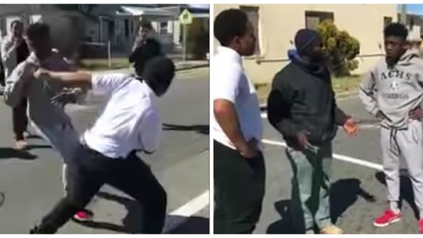LeBron shares video of bystander breaking up fight