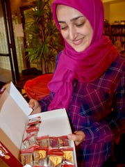 Fahimeh Foudazi adds sweet candy treats from her home