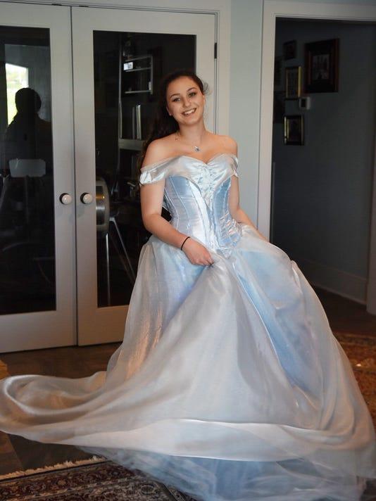 West High Student Creates Dream Cinderella Prom Dress
