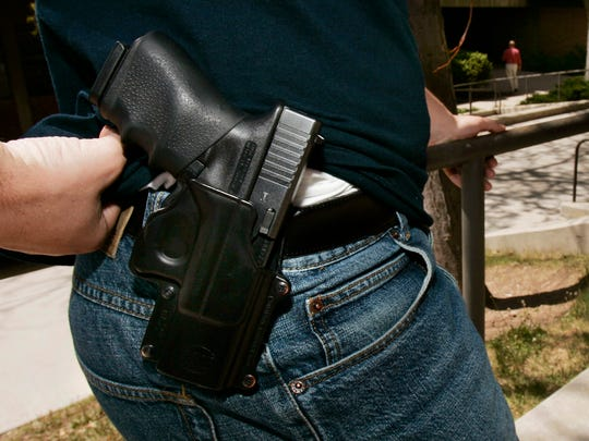 Eight states are expected to consider legislation that would let people carry a concealed weapon without a permit.