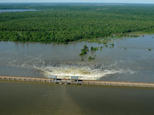 This May 2011 file photo shows Mississippi River water