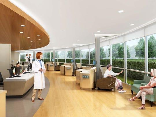 An artist's rendering of Ocean Medical Center's new cancer center, where renovations will begin next week.