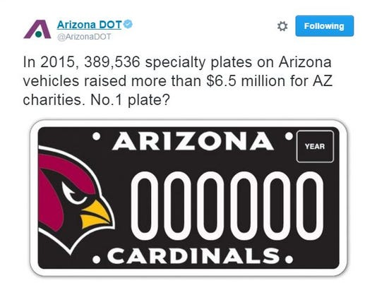 Cardinals specialty plate