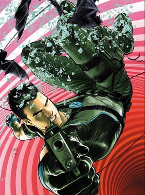 """Cover art for Issue 1 of the comic book """"Grayson."""""""