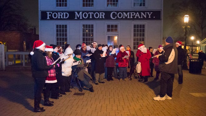 The Motor City Chorale, a community chorus that got its start as a GM Chorus, performs during Holiday Nights in 2014 at Greenfield Village in Dearborn.