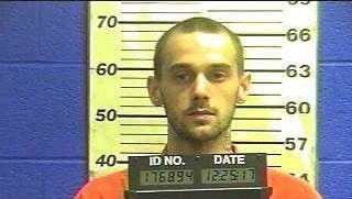 Joshua Frederick Webber, 25, was brought to York County Prison after allegedly jabbing a meat fork into his sister.