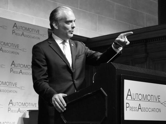 Mark Scarpelli, chairman of the National Automobile Dealers Association,at the Detroit Athletic Club on Oct. 10, 2017.